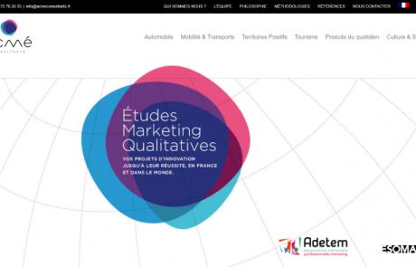 Page d'accueil du site d'un client, ACME Consultants