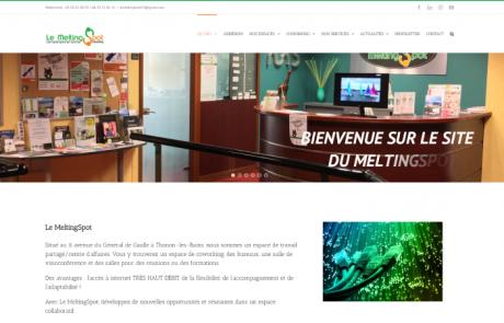 Page d'accueil du site du Melting Spot àespace de coworking à Thonon