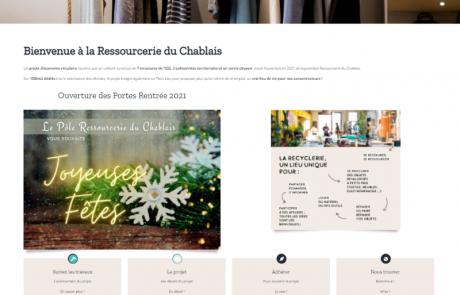 Photo illustrant le site internet de la Recyclerie du Chablais